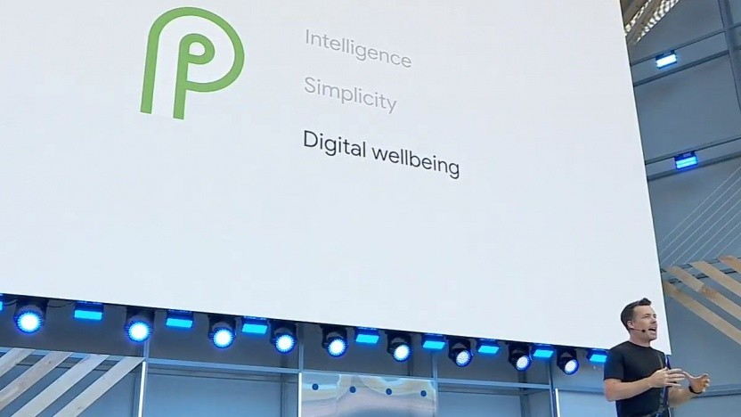 Google zeigt Android P auf der Google I/O 2018.
