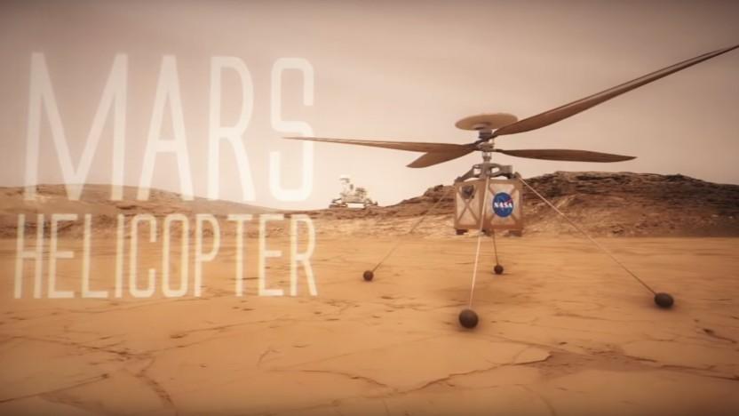 Ein kleiner Helikopter soll die nächste Marsmission begleiten.