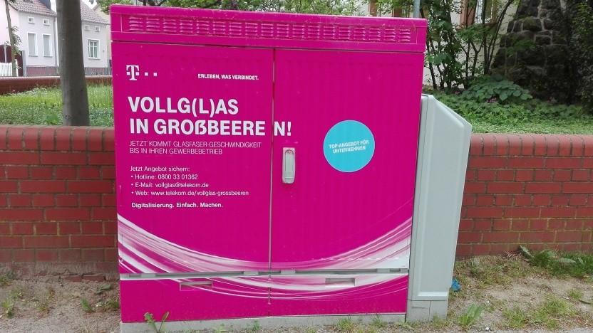Netzausbau der Telekom im Berliner Speckgürtel
