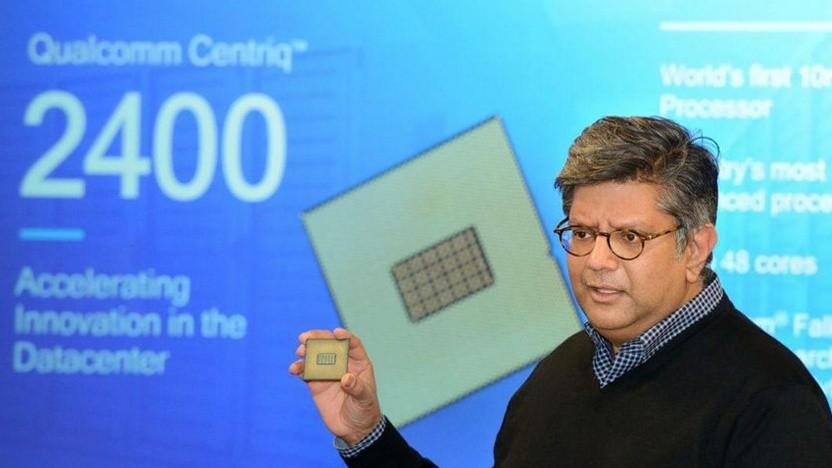Anand Chandrasekher mit einem Centriq 2400