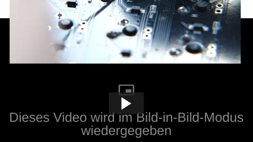 Der experimentelle Bild-in-Bild-Modus von Chrome gliedert das Video aus dem Player aus.