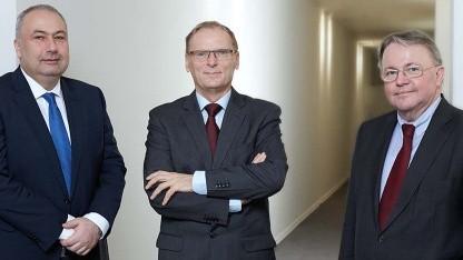 Das Präsidium der Bundesnetzagentur: Wilhelm Eschweiler (links), Jochen Homann (Mitte) und Peter Franke