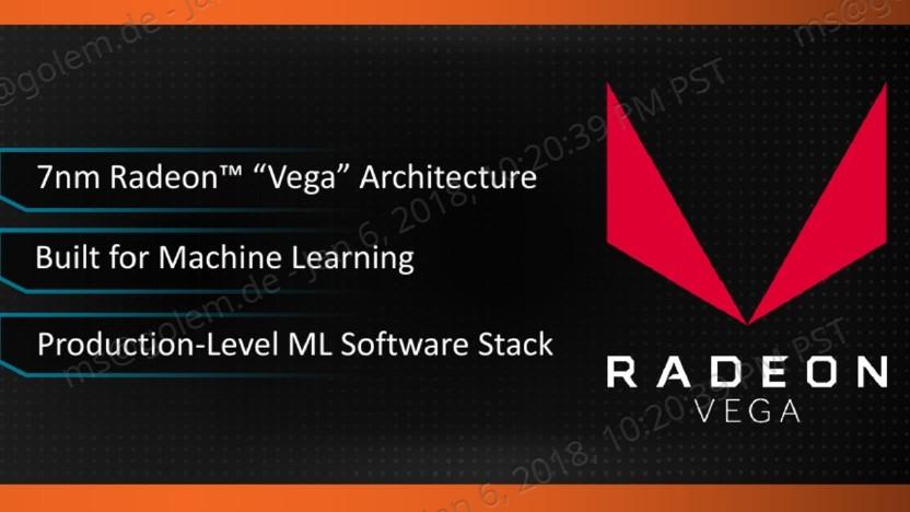 AMDs Vega 20 wird wohl zum Deep-Learning verwendet.