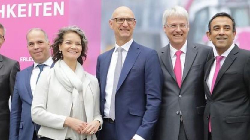 Das Führungsteam der Telekom auf der Hauptversammlung