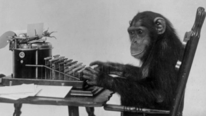 Dieser Affe könnte in unendlicher Zeit eine sinnvolle Urheberrechtsreform zusammentippen.