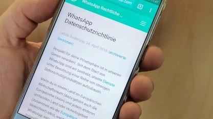 Whatsapp reagiert nicht ausreichend auf Widersprüche von Nutzern.