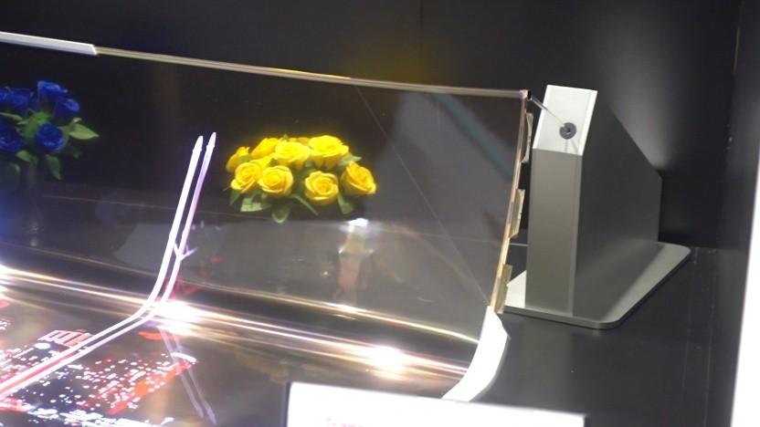 Noch nicht perfekt: der Prototyp von LGs flexiblem OLED-Display