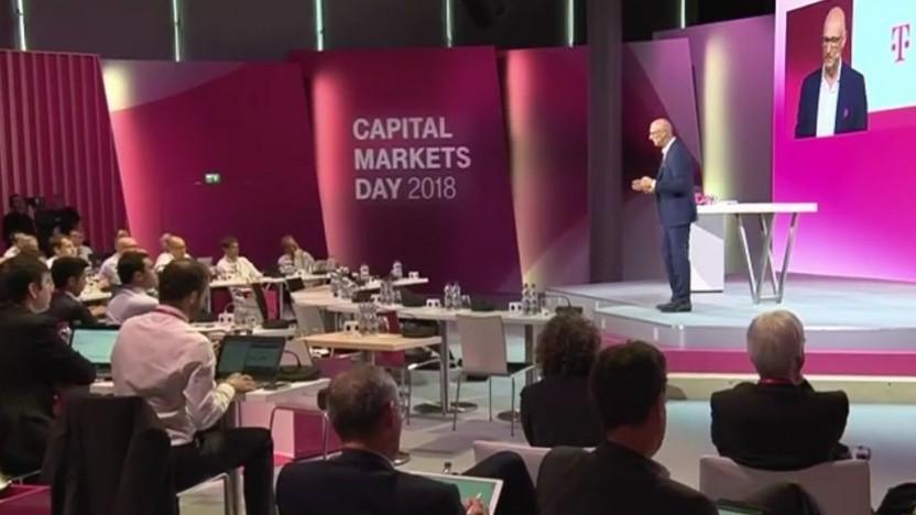 Beim Kapitalmarkttag 2018 informierte die Telekom über Wireless-to-Home-Technologien.