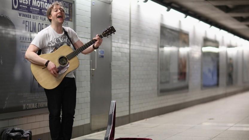 Musiker in einer Londoner U-Bahn-Station