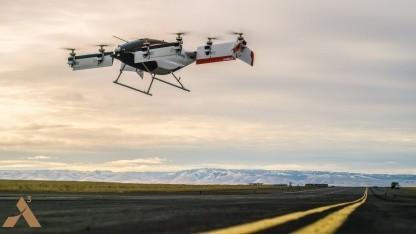Ein Lufttaxi beim Erstflug