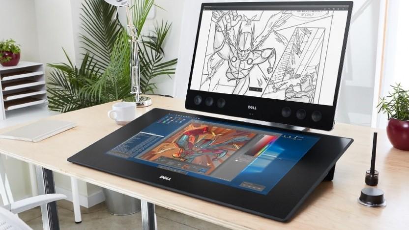 Das Dell Canvas mit dem Totem als Eingabegerät