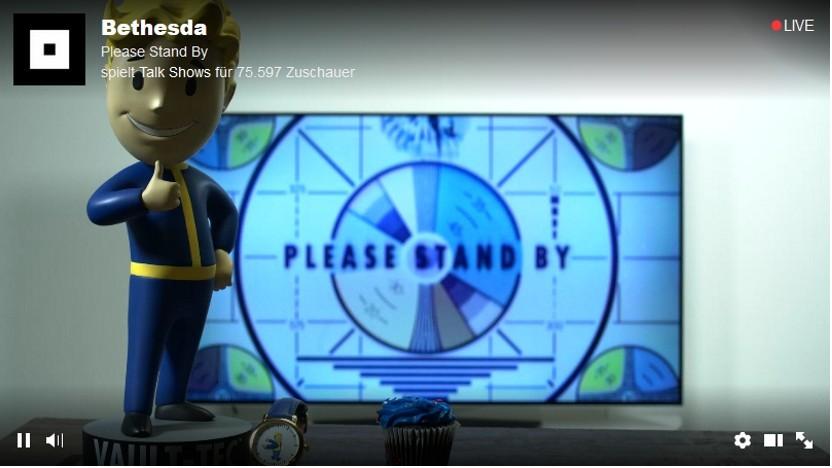 Live Stream von Bethesda auf Twitch