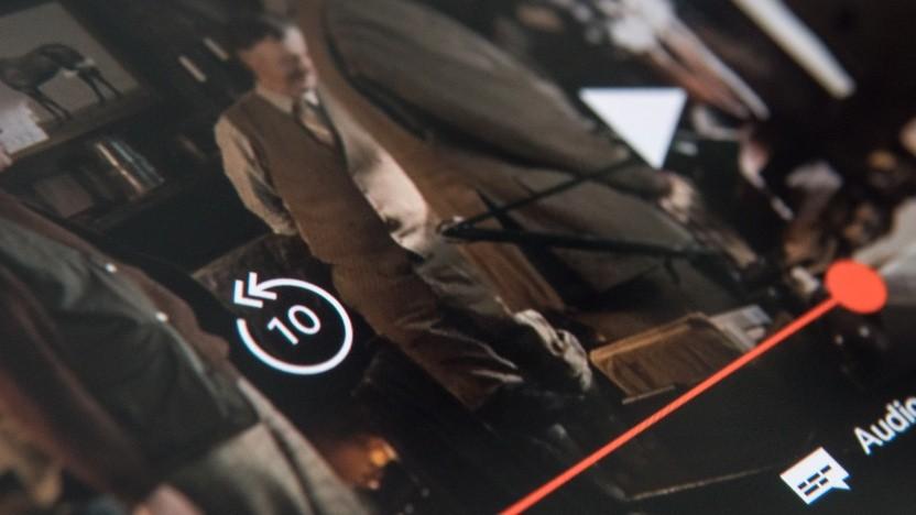 Netflix-App für Android mit 10-Sekunden-Spul-Button
