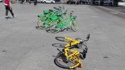 Leih-Räder am Potsdamer Platz