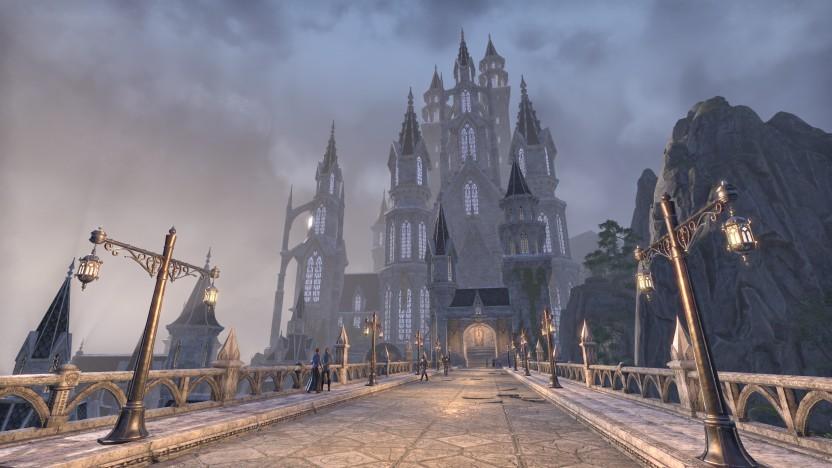 Der Königspalast von Alinor, der Hauptstadt der Hochelfen auf Sommersend