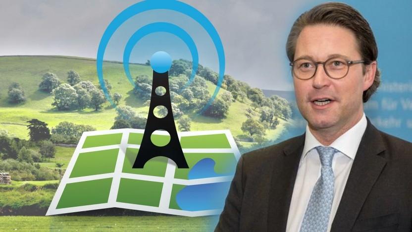 Andreas Scheuer findet Funklöcher für eine Wirtschaftsnation untragbar.