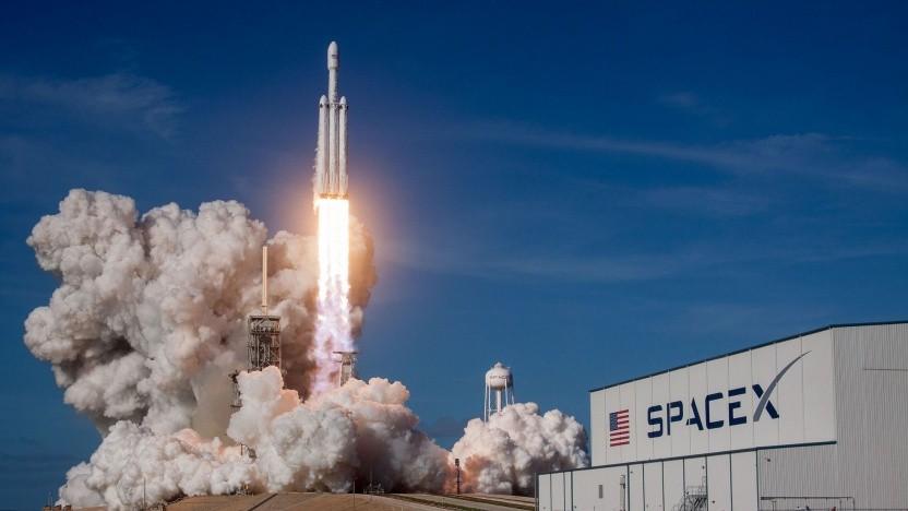 Start der Falcon Heavy am 6. Februar 2018: Viasat und Inmarsat flogen mit der Ariane 5.