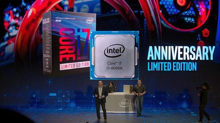 Intels Gregory Bryant stellt den 8086K vor.