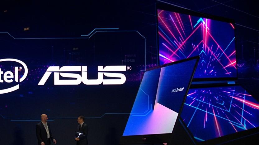 Asus stellt sein neues Notebook auf der Computex 2018 vor.