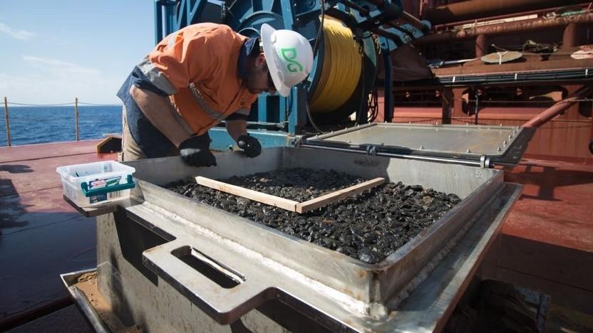 Manganknollen vom Meeresboden: wegen der Auswirkungen auf das Ökosystem höchst umstritten