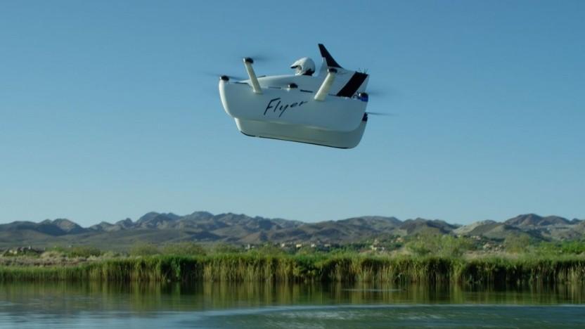 Der Flyer von Kitty Hawk: Die Geschwindigkeit ist auf 32 km/h begrenzt.