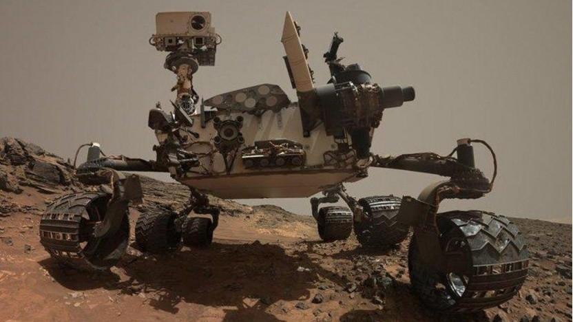 Der Marsrover Curiosity sucht auf dem Mars auch nach Zeichen von Leben.