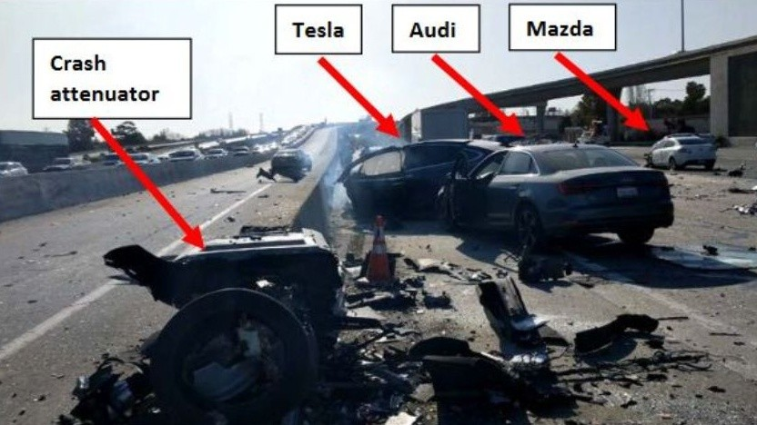Die Unfallstelle nach dem tödlichen Crash auf dem US-Highway 101