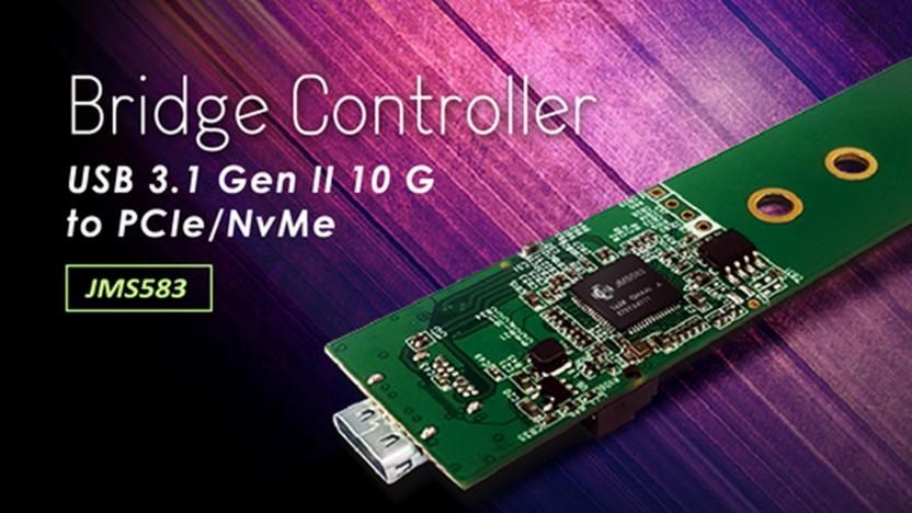 Adapterplatine mit JMS583-Bridge-Controller