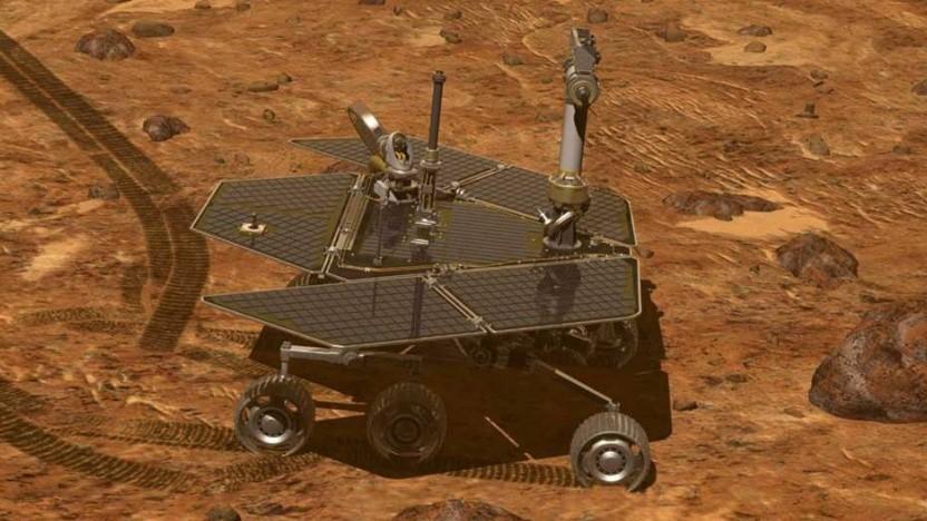 Marsrover Opportunity untersucht seit 2004 den roten Planeten.