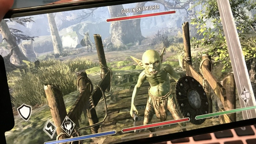 The Elder Scrolls Blades auf einem iPhone X