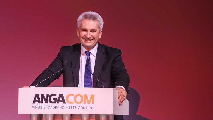Andreas Pinkwart (FDP) auf der Anga Com 2018