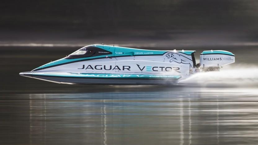Rennboot Jaguar Vector Racing V20E: Weitere Rekorde sind geplant.