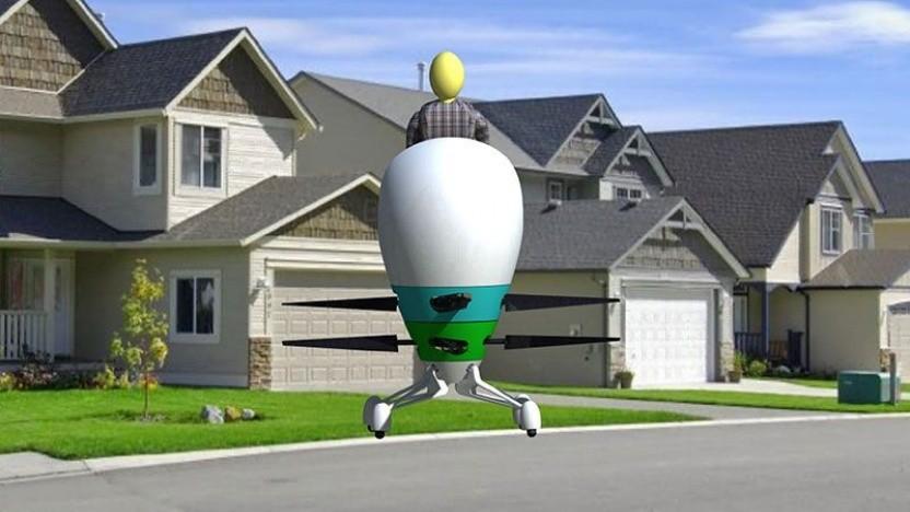Fluggerät Harmony: fliegendes Ei