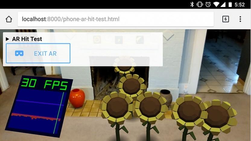 Die erste Test-App für Chromes WebXR war noch nicht sehr hilfreich.