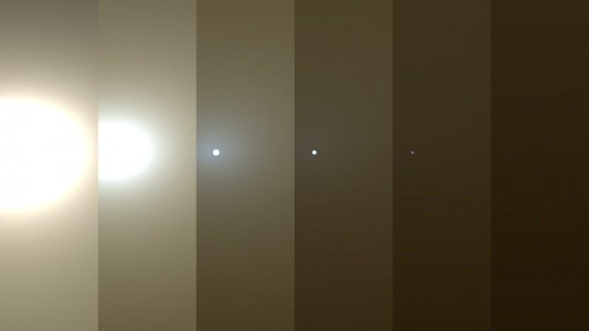 Staubstürme auf dem Mars machen den Tag zur Nacht.