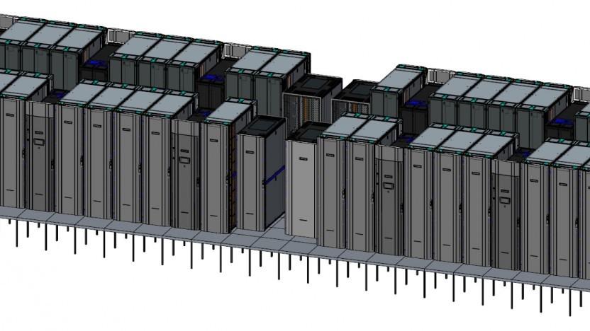 Entwurfszeichnung des Astra-Supercomputers