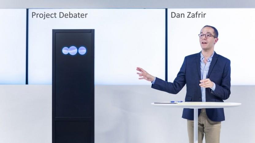 Dan Zafrir gegen Project Debater: Die Argumente des Computers zu Telemedizin waren überzeugender.