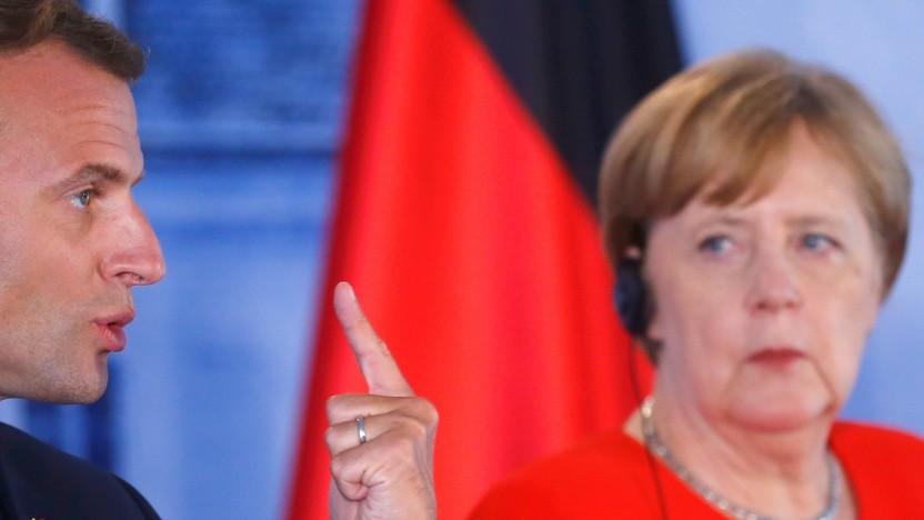 Frankreichs Präsident Emmanuel Macron und Bundeskanzlerin Angela Merkel