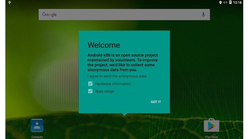 Mit Android-x86 lässt sich Android auf einem PC verwenden.