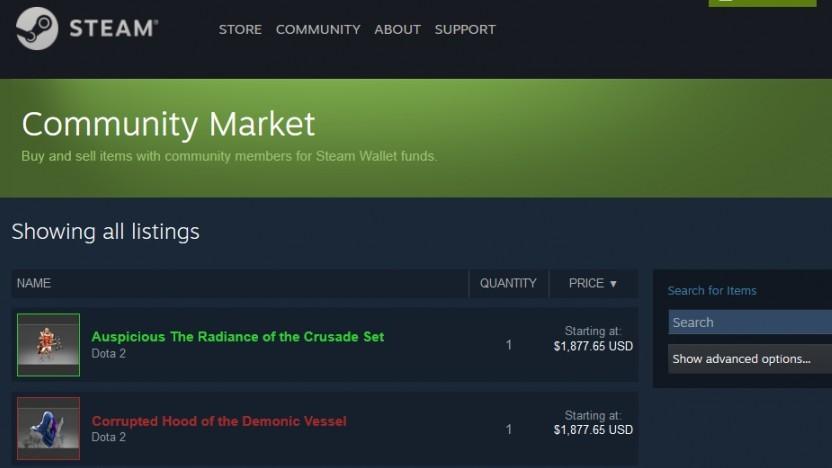 Marktplatz von Steam