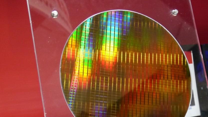 Ein Wafer mit NAND-Flash-Chips
