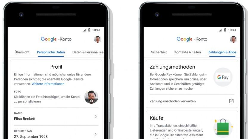 Die neuen Kontoeinstellungen von Google