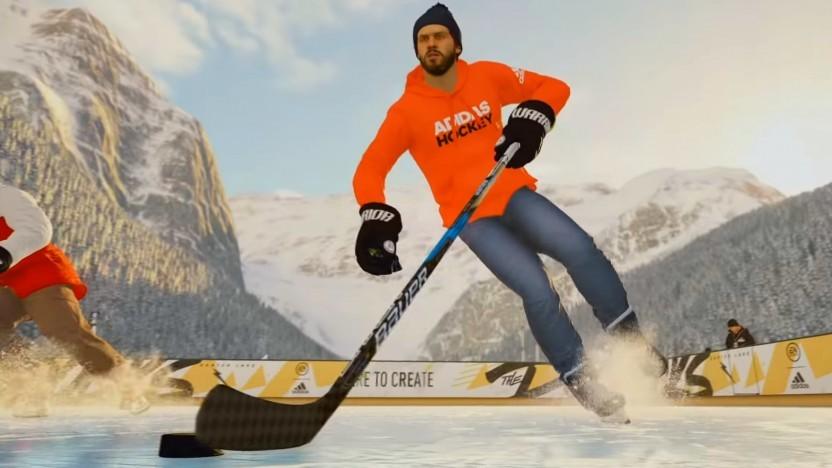 In NHL 19 können Spieler auch auf Eisflächen im Freien antreten.