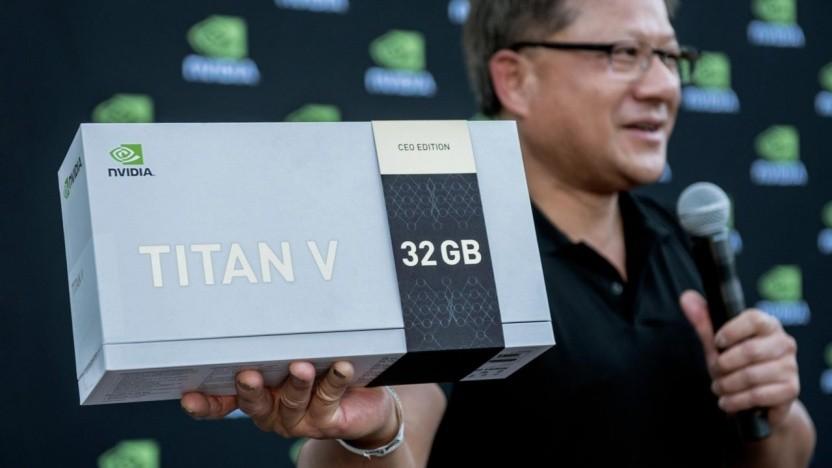 Jensen Huang mit CEO-Edition der Titan V