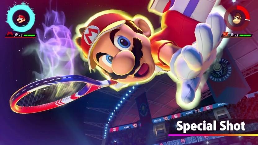 Mario trifft mit dem Superschlag auf der Switch schier unerreichbare Bälle.