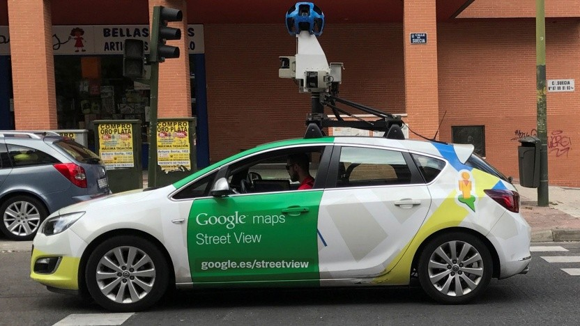 Auto von Google Street View in Madrid