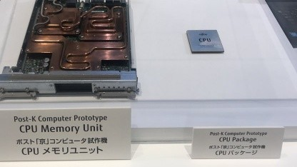 Prototyp der Hardware des Post-K-Supercomputers