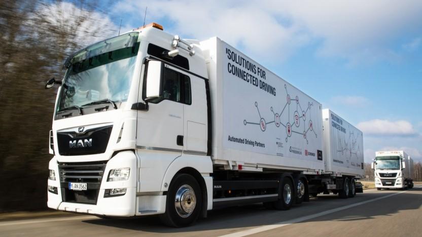 DB Schenker und MAN bringen vernetzte Lkw in den Praxiseinsatz.