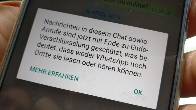 Verschlüsselte Nachrichten wie bei Whatsapp stellen Ermittler vor große Probleme.
