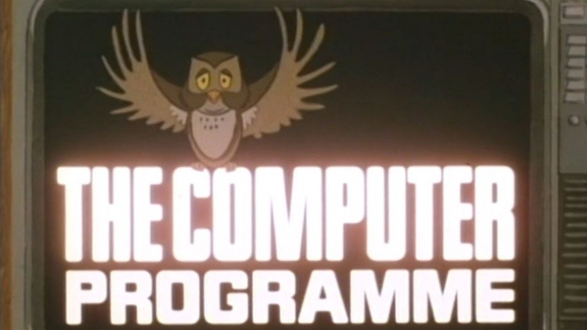 Das Intro von The Computer Programme mit der charakteristischen Eule, dem Markenzeichen der Lernkampagne.
